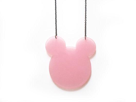 """Κολιέ από πλέξιγκλας """"Pink Mickey Mouse"""""""