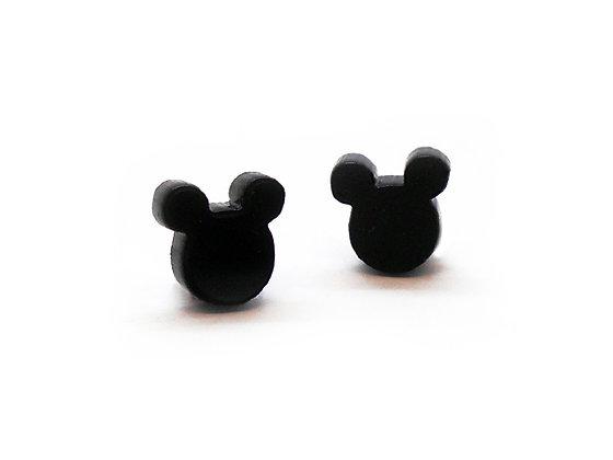 Πλέξιγκλας σκουλαρίκια BLACK MICKEY MOUSE