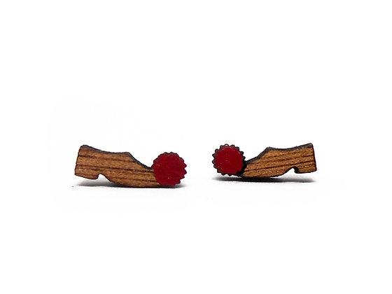Σκουλαρίκια ξύλινα TSAROUHI