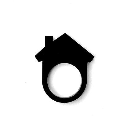 Πλέξιγκλας δαχτυλίδι Home Black