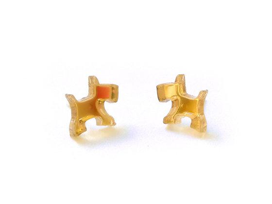 Πλέξιγκλας σκουλαρίκια GOLD WEST HIGHLAND
