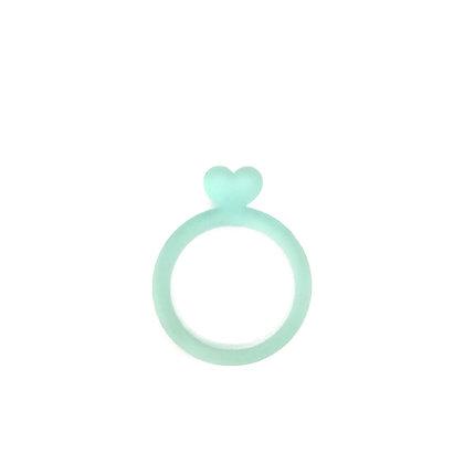 Πλέξιγκλας δαχτυλίδι Heart Light Turquoise