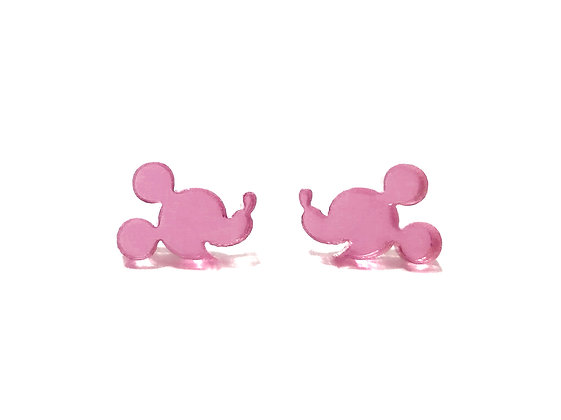 PINK MIRROR  MICKEY MOUSE FACE