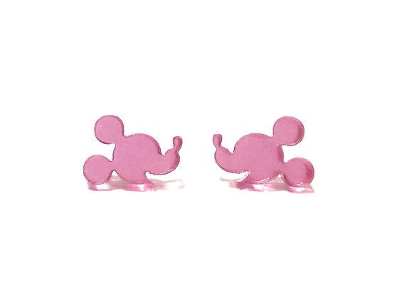 Πλέξιγκλας σκουλαρίκια PINK MICKEY MOUSE FACE