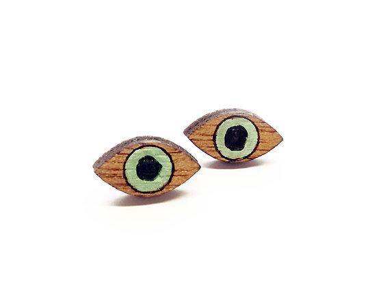 Σκουλαρίκια ξύλινα GREEN EYES