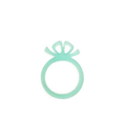 Πλέξιγκλας δαχτυλίδι Bow Turquoise