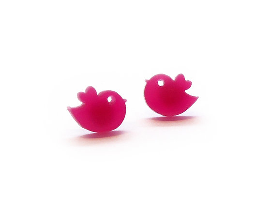 Σκουλαρίκια πλέξιγκλας PINK TWEETS