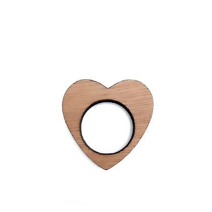 Ξύλινο δαχτυλίδι Heart