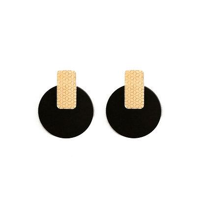 Πλέξιγκλας σκουλαρίκια GOLDEN CIRCLES
