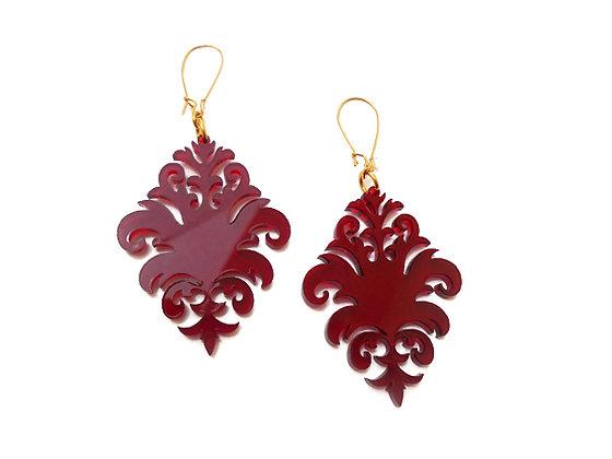 Πλέξιγκλας σκουλαρίκια RED BOHO