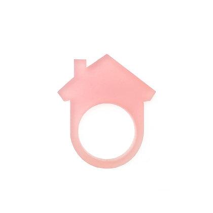 Πλέξιγκλας δαχτυλίδι Home Pink
