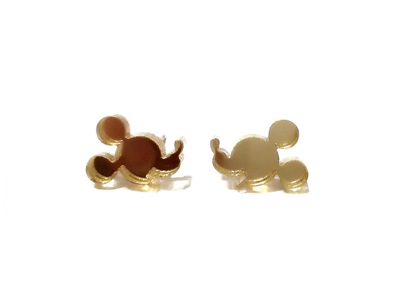 GOLD MIRROR  MICKEY MOUSE FACE