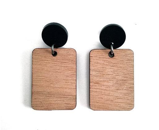 Σκουλαρίκια ξύλινα WOOD