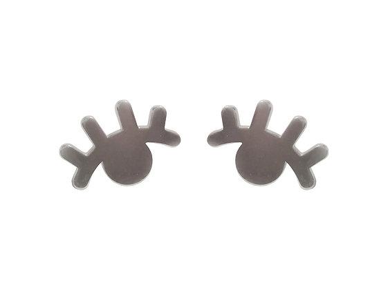 Ασημένια σκουλαρίκια EYELASHES