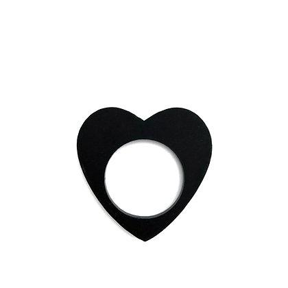 Πλέξιγκλας δαχτυλίδι Heart Black