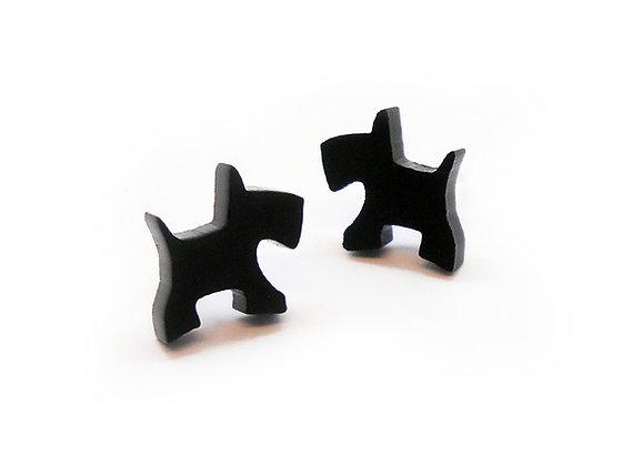 Πλέξιγκλας σκουλαρίκια BLACK WEST HIGHLAND