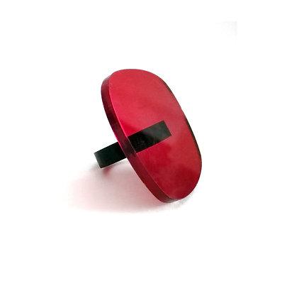 Red Plexiglass Ring#8