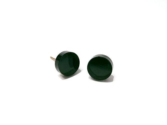 Πλέξιγκλας σκουλαρίκια SMALL GREEN DOTS