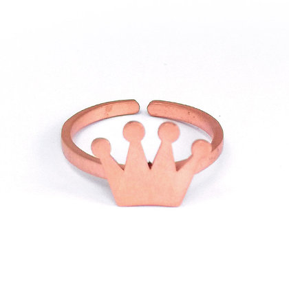 PINK GOLD PLATED SILVER CROWN