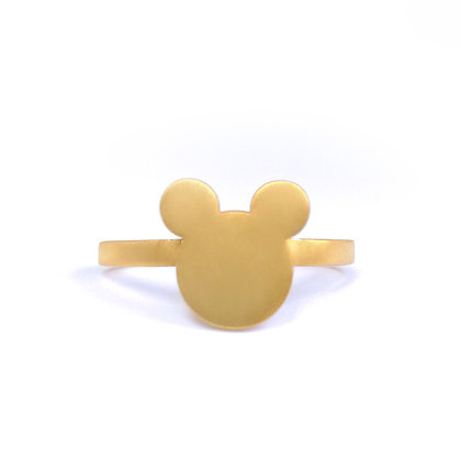 GOLD PLATED SILVER FAMOUS MOUSE
