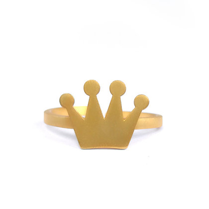 GOLD PLATED SILVER CROWN