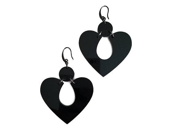 Σκουλαρίκια πλέξιγκλας HEARTS