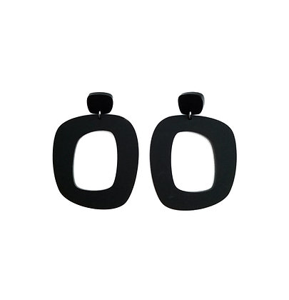Πλέξιγκλας σκουλαρίκια BLACK DION