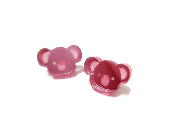 Πλέξιγκλας σκουλαρίκια PINK COALA