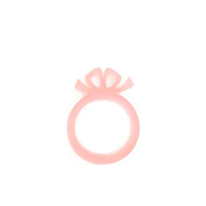 Πλέξιγκλας δαχτυλίδι Bow Pink