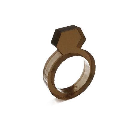 Πλέξιγκλας δαχτυλίδι Brown Diamond