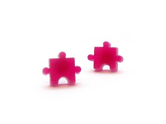 Πλέξιγκλας σκουλαρίκια PINK PUZZLES