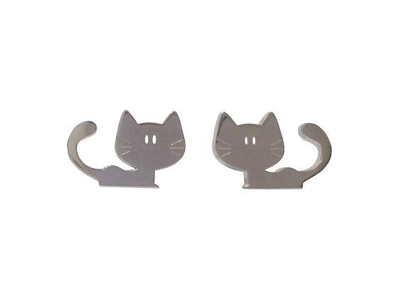 Ασημένια σκουλαρίκια CAT