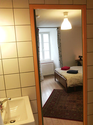 Chambre chat vert salle de bain Au chat ronfleur