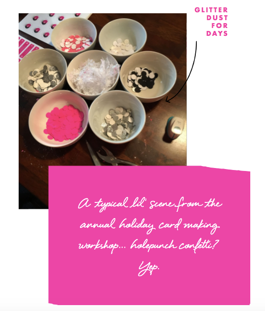Glitter for holiday cards