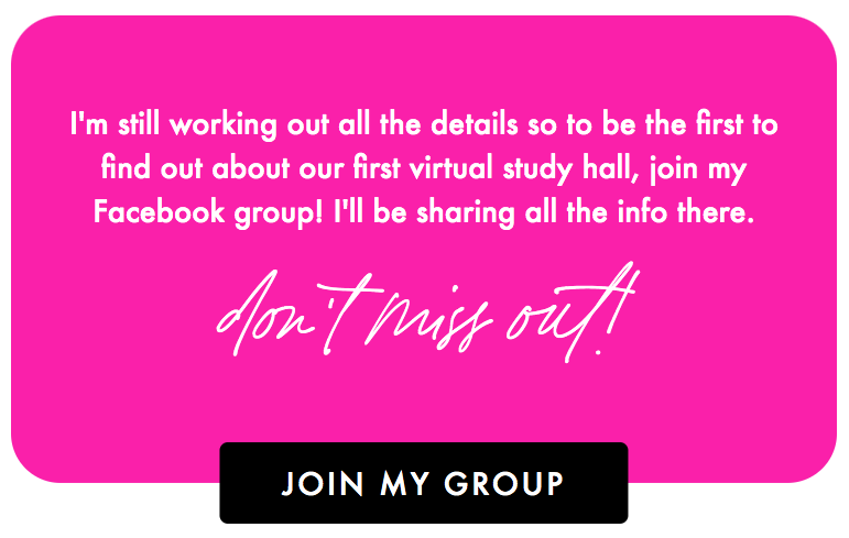 Join Alycia's group to get details about virtual study hall
