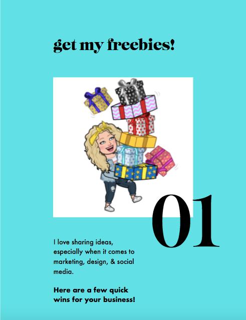 get my freebies! with Alycia yerves bitmoji carrying presents