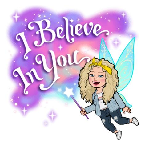 Alycia Yerves fairy I believe in you bitmoji