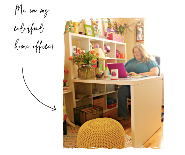 Alycia Yerves sitting at desk in home office