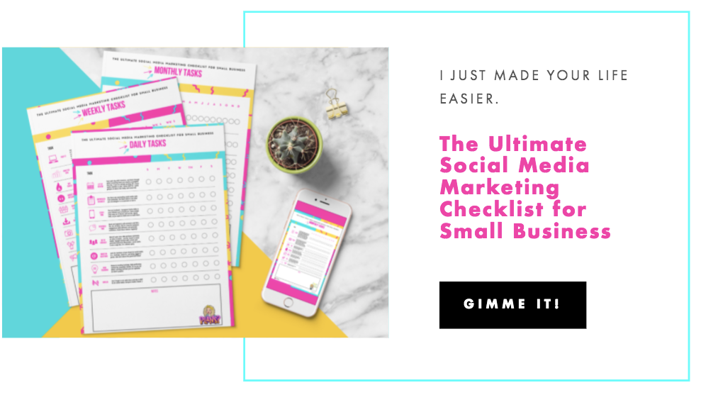The Ultimate Social Media Marketing Checklist for Small Business freebie