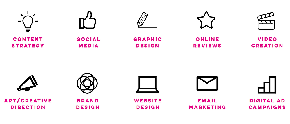 services graphic icons