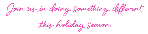 Join us in doing something different this holiday season quote graphic
