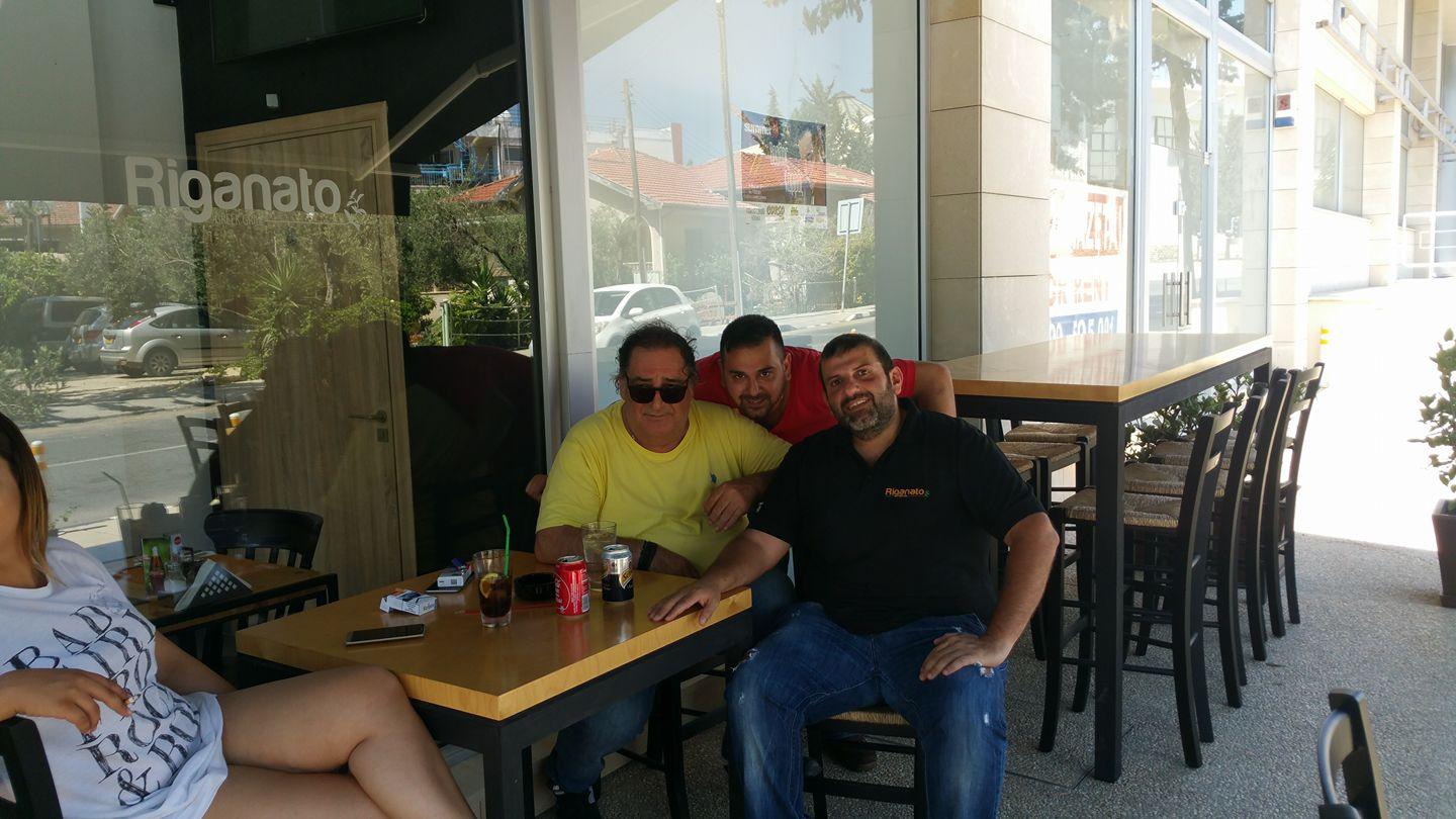 Vasilis Karas at Riganato Greek Grill in