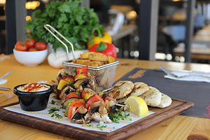 Grilled Vegetable Kebab Meal