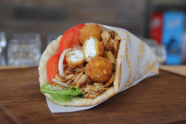 Gyrodelhia Greek Gyros with Philadelphia balls