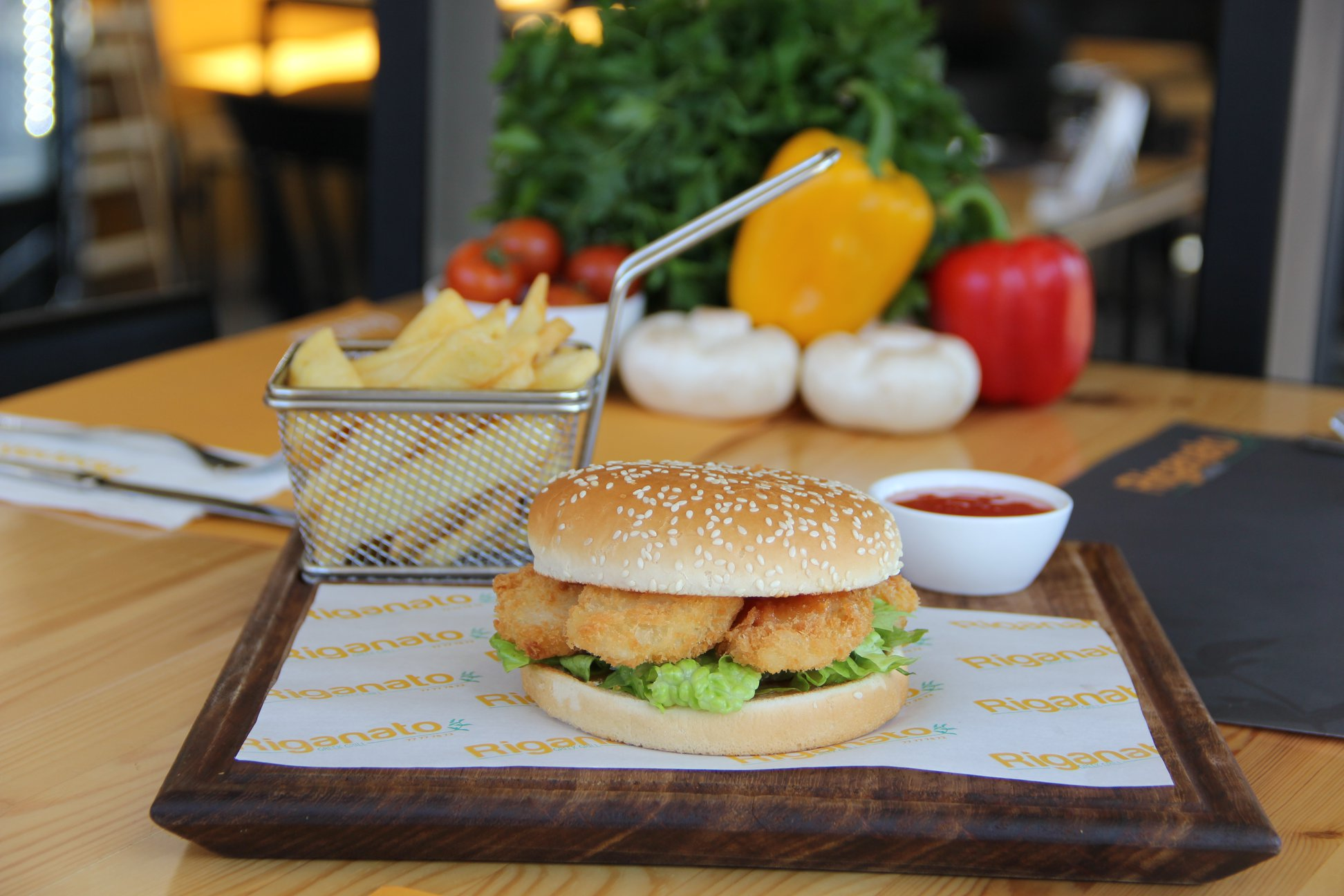 Fasting Menu - Shrimp Burger in Paphos