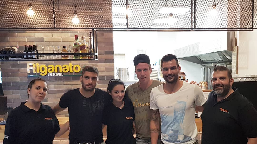 Pafos FC Football Players at Riganato Gr