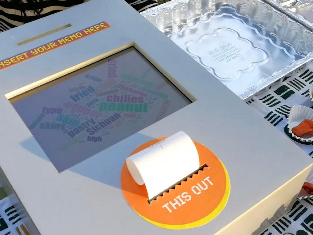 receipt printer and sensory pool