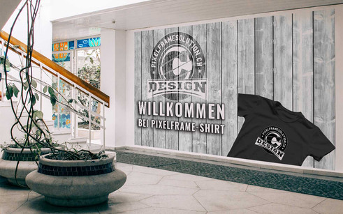 Willkommen Pixelframe/Shirt Wand 1600X