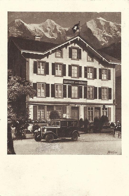 Hotel Rössli Interlaken 1922