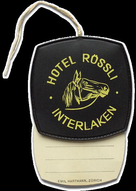 Hotel Roessli luggage tag